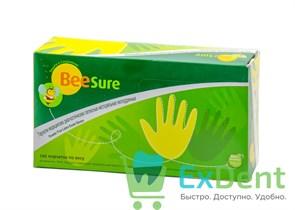 Перчатки BeeSure М, латекстные, нестерильные, текстурированные (100 шт)