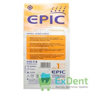 Перчатки Epic (7,5 - M) - хирургические стерильные латексные неопудренные (1 пара)