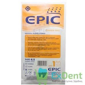 Перчатки Epic (6,5 - S) - хирургические стерильные латексные неопудренные (1 пара)