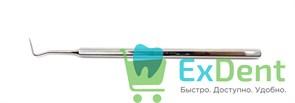 Зонд зубной изогнутый (15 см), рабочая часть 15 мм, Струм