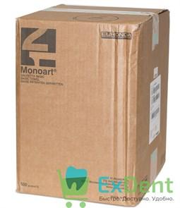 Салфетки для пациентов зеленые 2-х слойные, Basic Monoart 33 х 45 см (500 шт)