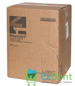 Салфетки для пациентов оранжевые 3-х слойные, Prem[um  Monoart 33 х 45 см (500 шт)
