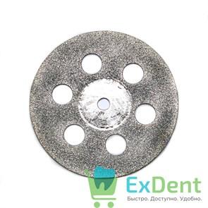 Диск (круг) алмазный, сплошной 6-отверстий, зуботехнические (диаметр 22 мм) Агри