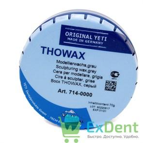Воск Thowax - моделировочный, серый (70 г)