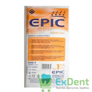 Перчатки Epic (7 - S / M) - хирургические стерильные латексные неопудренные (1 пара)