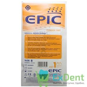 Перчатки Epic (8 - M / L) - хирургические стерильные латексные неопудренные (1 пара)