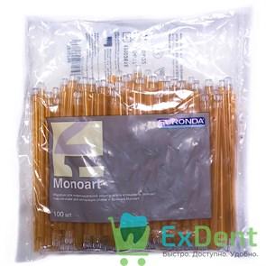 Наконечники для слюноотсосов оранжевые, гибкие, Monoart (100 шт)