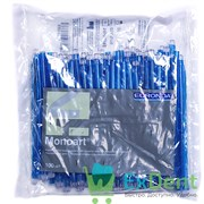 Наконечники для слюноотсосов синие, гибкие, Monoart (100 шт)