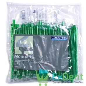 Наконечники для слюноотсосов зеленые, гибкие, Monoart (100 шт)