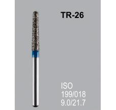 Боры алмазные Mani TR-26 199/018 FG - конусообразный, закругленный кончик, синий (5 шт)
