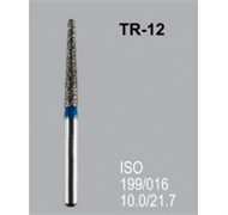 Боры алмазные Mani TR-12 199/016 FG - конусообразный, закругленный кончик, синий (5 шт)