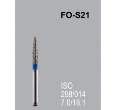Боры алмазные Mani FO-S21 298/014 FG - пламяобразный, стрельчатый кончик, синий (5 шт)