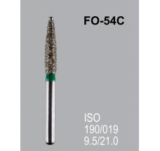 Боры алмазные Mani FO-54C 190/018 FG - пламяобразный, стрельчатый кончик, зеленый (5 шт)