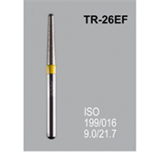 Боры алмазные Mani TR-26EF 199/018 FG - конусообразный, закругленный кончик, желтый (5 шт)