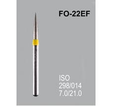 Боры алмазные Mani FO-22EF 298/016 FG - пламяобразный, стрельчатый кончик, желтый (5 шт)