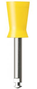 Полир (головка силиконовая) P1242, желтая, средняя чаша NTI