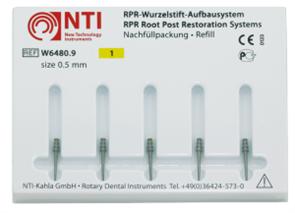 Штифты титановые №1, размер 0,5 мм, для восстановления культи NTI (5 шт)