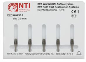 Штифты титановые №2, размер 0,9 мм,для восстановления культи NTI (5 шт)