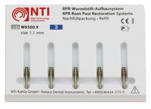 Штифты титановые №3, размер 1,1 мм,для восстановления культи NTI (5 шт)