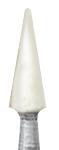 Головка керамическая абразивная Arkanzas RA, белый конус, размер 2,5, длина 7 мм, NTI