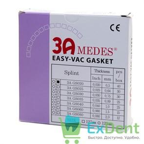 Пластины EV Gasket Splint - 0.5 квадратные, для изготовления ортодонтических шин, 127 мм (40 шт)