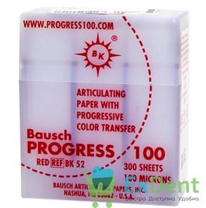Артикуляционная бумага прямая, красная Bausch (100 мкм х 300 шт)