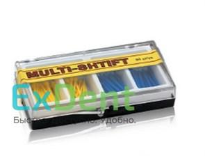 Штифты беззольные лабораторные желтые и синие (2 х 40 шт), MULTI-SHTIFT