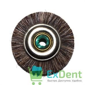 Щетка для шлифмотора натуральная щетина, коричневая средняя (5 см)