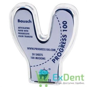 Артикуляционная бумага подковообразная, синяя Bausch (100 мкм х 50 шт)