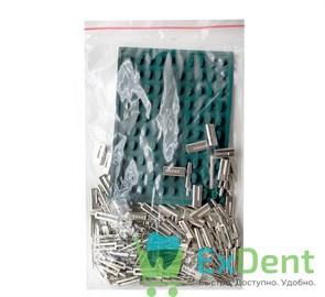 Штифты Bi-V-Pin (Би-В-Пин) со втулкой никелированные с резиновой подкладкой (100 шт)