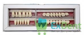 Гарнитур акриловых зубов А2 1/17H-0/6D 77NH-77ND - Spofadental Plus, трехслойные (28 шт)
