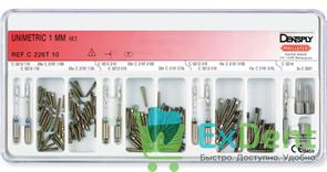 Штифты титановые конические Unimetric набор 1,0 мм (120 штифтов, 7 дрилей, 3 ключа)