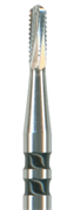 H34L-010-FG Бор твердосплавный NTI для разрезания коронок (акула), форма цилиндр, круглый, длинный
