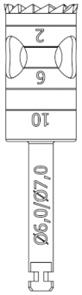 RF229-060-RAL Хирургический инструмент NTI, хвостовик длинный для углового наконечника, трепан