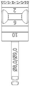 RF229-080-RAL Хирургический инструмент NTI, хвостовик длинный для углового наконечника, трепан