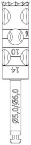 RF229L-050-RAL Хирургический инструмент NTI, хвостовик длинный для углового наконечника, трепан длин