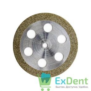 Диск (круг) алмазный, ободок 6-отверстий, зуботехнические (диаметр 22 мм) Агри