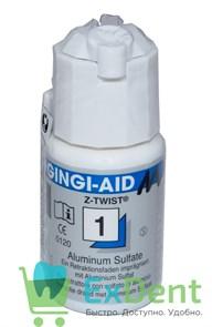 Нить ретракционная №1, Gingi-Aid синяя (с сульфатом аллюминия), (2,74 м)
