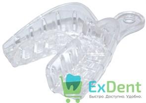 Ложка для слепков пластмассовая, с перфорированием S (№1) низ прозрачная