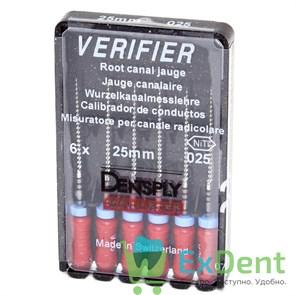 Verifier (Верификатор) №25, 25 мм - для предварительного определения размера гуттаперчи (6 шт)