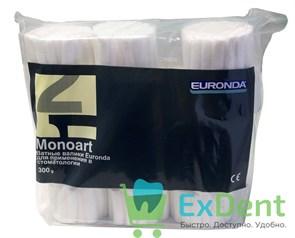 Валики ватные №2 Monoart, диаметр 10 мм - для применения в стоматологии (300 г)