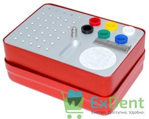 Эндобокс Diadent, средний, квадратный, синий или красный на 35 инструментов