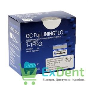 GC FUJI LINING CEMENT LC (Фуджи Лайнинг Л СИ) - светоотверждаемый стеклоиономер типа порошок 10 г + жидкость 6.8 мл.