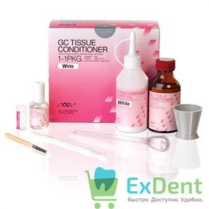 Tissue conditioner, White, кондиционер для тканей, мягкий акриловый материал 90g порошок, 101ml жидкость, 15ml Coating