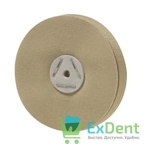 Круг льняной с силиконовой пропиткой для предварительной полировки пластмассы (1 шт)