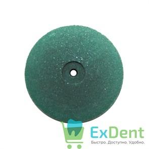 Диск силиконовый зеленый (тонкий диск) диаметр 22 мм для металла, пластмассы