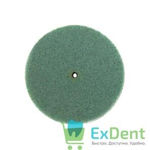 Диск уретановый для финишной полировки мягких пластмасс, зеленый (22 мм)