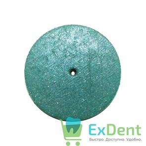 Диск силиконовый для пластмассы и металла, зеленый (22 мм)