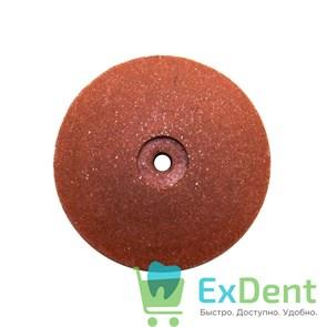 Диск силиконовый для пластмассы и металла, коричневый тонкий (22 мм)