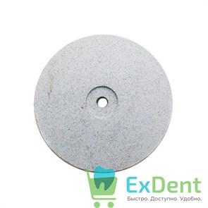 Диск силиконовый для пластмассы и металла, белый тонкий (22 мм)